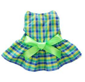 Fitwarm Casual Plaid Dog Dress Dog Clothes Cozy Dog Shirt Pet Dress