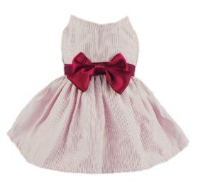 Fitwarm Elegant Ribbon Pet Clothes for Dog Dress Vest Shirts Apparel, Red
