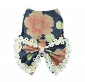 Fitwarm Stylish Floral Pet Dog Dress Harness Vest Shirts D ring Clothes, Blue