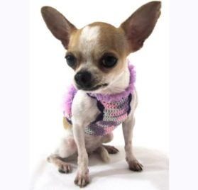 Myknitt Fashion Dog Dresses Cat Pet Boutique Chihuahua Clothes Handmade Crochet Dk906 Free Shipping 2