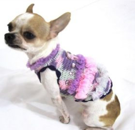 Myknitt Fashion Dog Dresses Cat Pet Boutique Chihuahua Clothes Handmade Crochet Dk906 Free Shipping