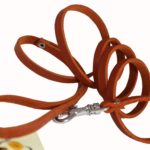 4 Genuine Leather Classic Dog Leash 3-8 Wide