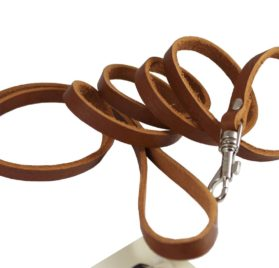4 Genuine Leather Classic Dog Leash 3-8 Wide, Puppies, Miniature Poodle, Chihuahua 2