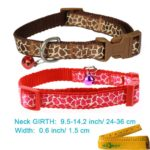 Adjustable Breakaway Cute Cat Dog Pet Collar and Leash Set with Bell for Cats Dogs Pets, 2 Pack 2