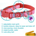 Adjustable Breakaway Cute Cat Dog Pet Collar and Leash Set with Bell for Cats Dogs Pets, 2 Pack 3