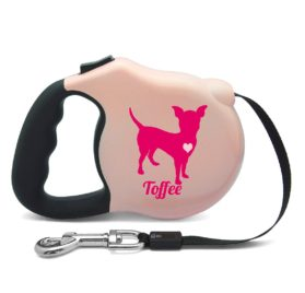 Avant Garde Chihuahua Retractable Dog Leash, Small, Pink