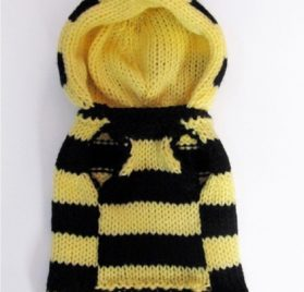 Bee Dog Sweater - Bumble Bee Dog costume coat - Hand knitted X Small dog clothes Medium Large - Different Sizes Available 2