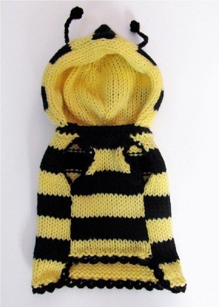 Bee Dog Sweater Bumble Bee Dog Costume Coat