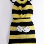Bee Dog Sweater - Bumble Bee Dog costume coat - Hand knitted X Small dog clothes Medium Large - Different Sizes Available 3