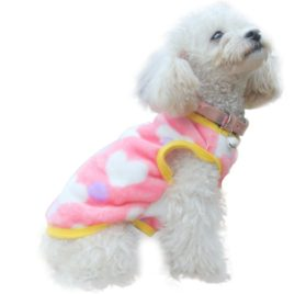 Binmer(TM) Dog Clothes Pet Cat dog Villus Clothes Winter Autumn Leopard Pet Vest clothing little dog 2