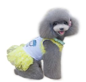 Binmer(TM)Doggy Pet Dog Clothes Party Summer Dress Brace Skirt Small Pet Cat Puppy Clothing