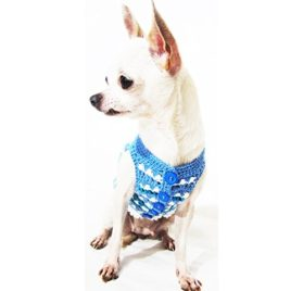 Blue Dog Clothes Handmade Crochet Unique Pet Clothing Chihuahua Puppy Sweater Designer Dk962 Myknitt - Free Shipping 2