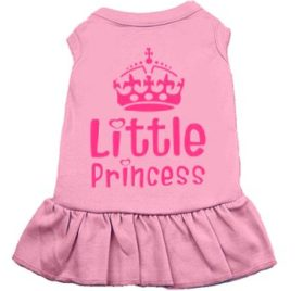 EXPAWLORER Cute Shirt Designer Dress Printed Pink Crown Little Princess Casual Vest for Dog & Cat
