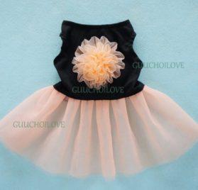 Fitwarm® Elgant Floral Dog Dress for Dog Tutu Stylish Dog Clothes Pet Dress 2