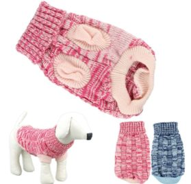 HP95 Hot! Fashion Knitted Sweater Twist Design Pet Puppy Knit Clothes