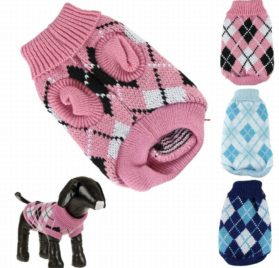 Iuneed Winter Warm Pet Dog Sweater Knitting Crochet Clothes Puppy Dog Coat