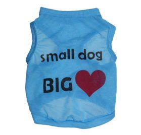 Ollypet Dog Cat Puppy Funny T-shirt Small Dog Vest Apparel For Boys Pets Blue