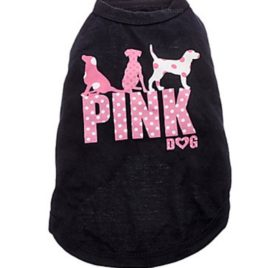 Ollypet Dog Cool Shirt Pink Dog Vest for Small Pets Black