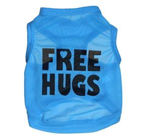 Ollypet Small Dog Tank Top Free Hugs Cool Cute Shirt for Pugs, Chihuahua