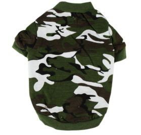 Outtop Cute Pet Dogs Army Camouflage Warm Cotton Sweater 2