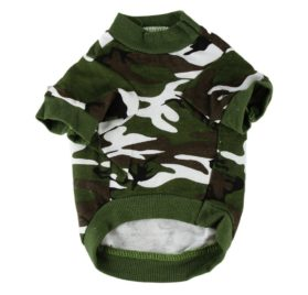 Outtop Cute Pet Dogs Army Camouflage Warm Cotton Sweater