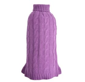 PetTa Purple Decent Turtleneck Cat Puppy Doggie Sweater 2