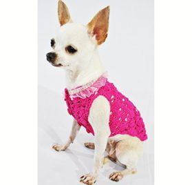 Pink Dog Clothes Fancy Pet Apparel Crystal Fashion Designer Dog Clothing Handmade Crochet Cute Puppy Clothes Chihuahua Clothing Df17 By Myknitt - Free Shipping