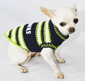 Seattle Seahawks Dog Clothes NFL Dog Jerseys Football Pet Costumes Puppy Sweaters Super Bowl Chihuahua Clothing Handmade Crochet Dk975 Myknitt - Free Shipping 2