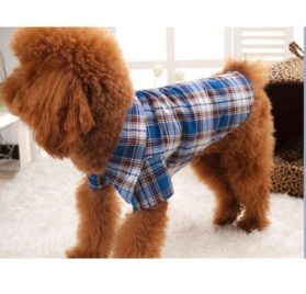 Small Pet Dog Puppy Shirts, Outtop Pets Dogs 2015 the Boy Next Door Plaid Lattice Clothes Shirt 2