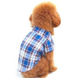 Small Pet Dog Puppy Shirts, Outtop Pets Dogs 2015 the Boy Next Door Plaid Lattice Clothes Shirt