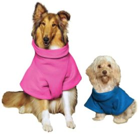 Snuggie for Dogs Blue Colored Fleece Blanket Coat with Sleeves - Small 2