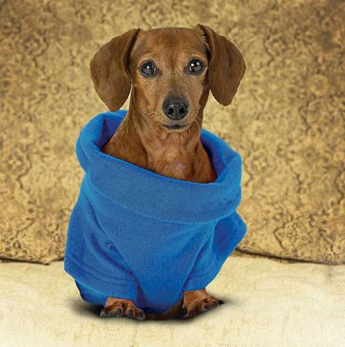 Snuggie For Dogs Blue Colored Fleece Blanket Coat With Sleeves