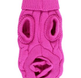Uxcell Pet Chihuahua Twisted Knit Turtleneck Clothes Sweater, XX-Small, Fuchsia 2