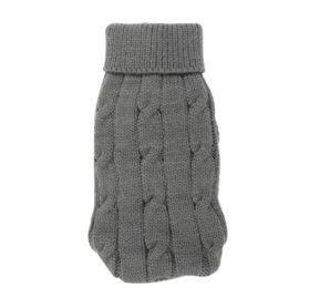 Uxcell Pet Chihuahua Twisted Knit Turtleneck Clothes Sweater, XX-Small, Gray
