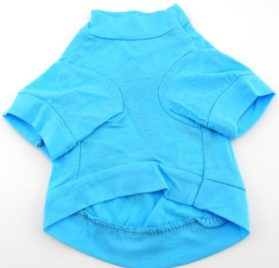 smalllee_lucky_store Blue Summer Tee T shirt small dogs clothes costume anchor XS 2