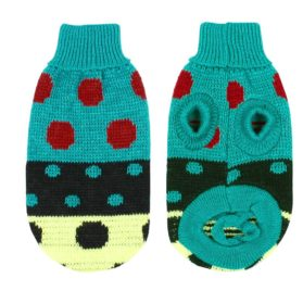 uxcell® Pet Dog Chihuahua Clothes Sweater Teal Green Winter Knitwear XXS