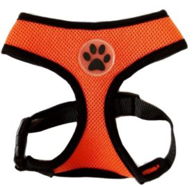 BINGPET BB5001 Soft Mesh Dog Harness Pet Walking Vest Puppy Padded Harnesses Adjustable , Orange Extra Small