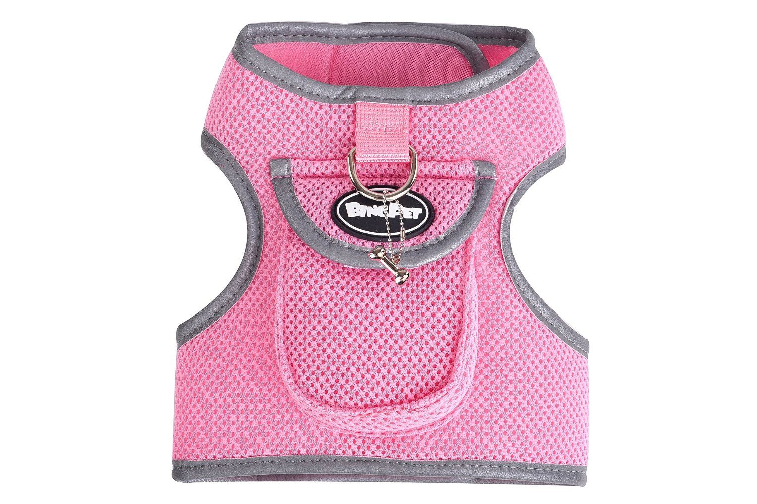 BINGPET Soft Mesh Dog Backpack Harness Pet Puppy Padded Vest