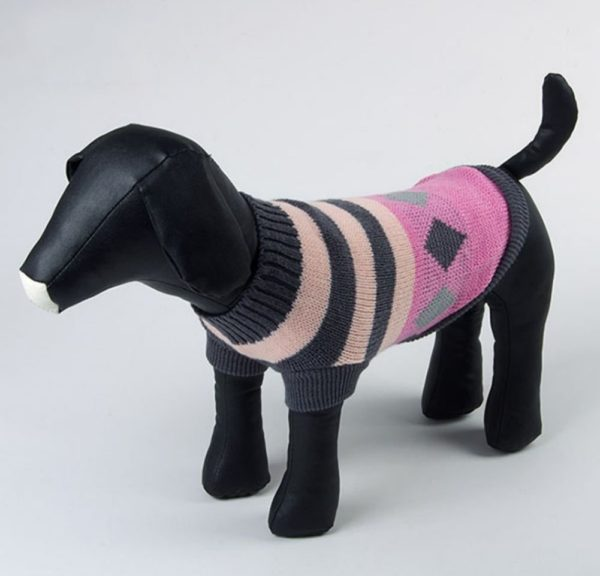 Balight Small Dog Pattern Sweater Clothes Jacket Jumper Pink