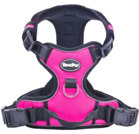 Best Front Range No-Pull Dog Harness. Reflective Outdoor Adventure Pet Vest with Handle. 3 Stylish Colors and 5 Sizes