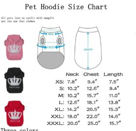 EXPAWLORER Princess Dog Cat Fleece Sweatershirt Hoodies 2