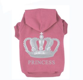 EXPAWLORER Princess Dog Cat Fleece Sweatershirt Hoodies