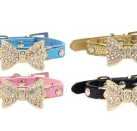 Lillypet(TM) Bling Rhinestone Pet Cat Dog Bow Tie Collar Necklace Jewelry for Small or Medium Dogs 2