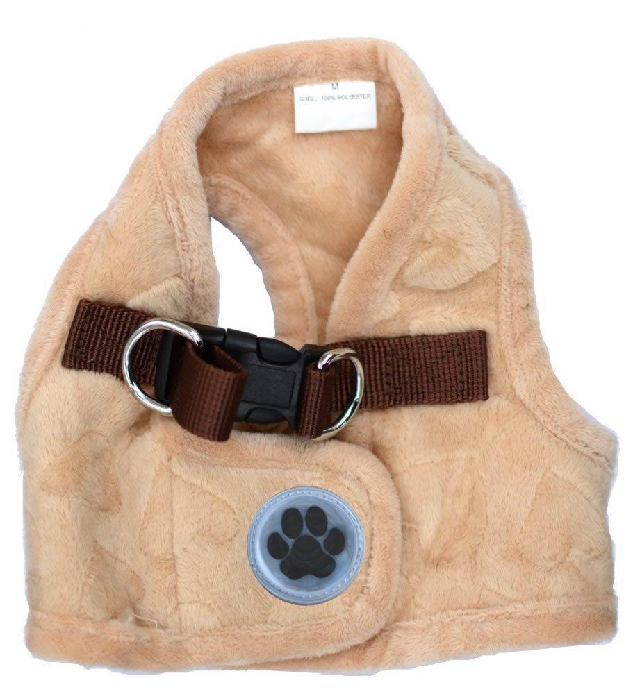 Lovely Heart Print Warm Fleece Pet Harness Vest Puppy
