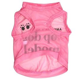 Ollypet America's Next Top Dog Model Cotton Dog Shirt Pet Vest Pink 2