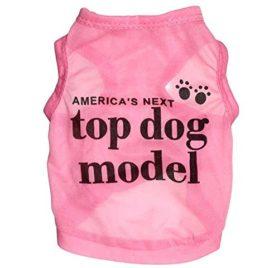 Ollypet America's Next Top Dog Model Cotton Dog Shirt Pet Vest Pink