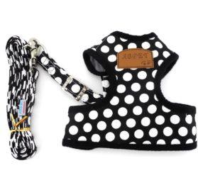 SMALLLEE_LUCKY_STORE New Soft Mesh Nylon Vest Pet Cat Small Medium Dog Harness Dog Leash Set Leads S M L