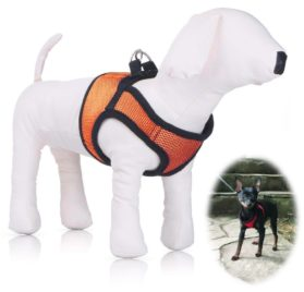 Small Dog Harness, PETBABA Soft Ventilate Mesh No Pull Dog Harness with Velcro for Dogs