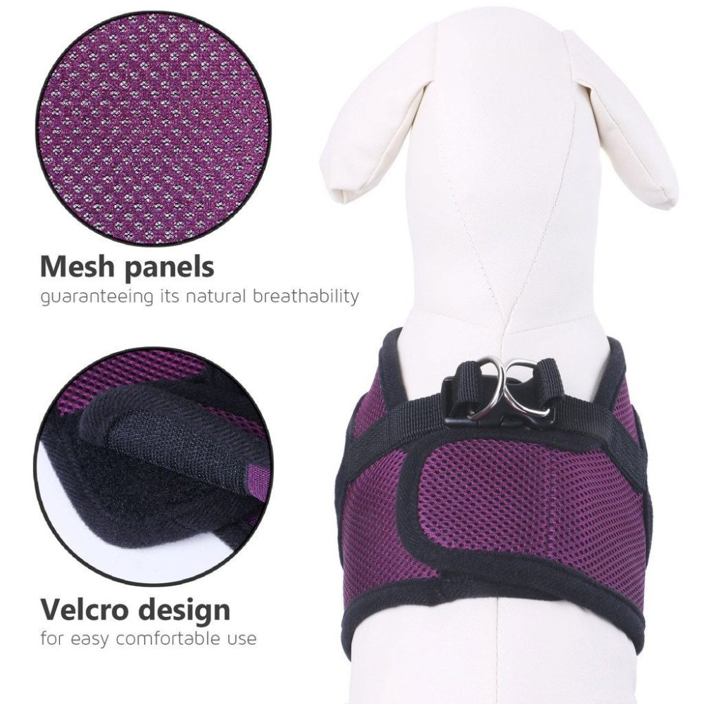 Small Dog Harness,PETBABA Soft Ventilate Mesh No Pull Dog Harness