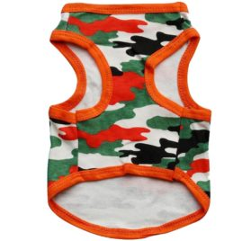 WEI QIU Pet Dog Camouflage T-shirts Puppy Doggy Casual Camo Vest Apparel 2